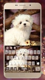 Lovely Puppy téma Klávesnice - náhled