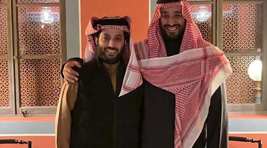 Turki con el futuro Rey de Arabia Saudí