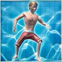 Diving pool flip icon