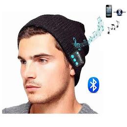 Caciula cu bluetooth. Handsfree si Microfon, Unisex, Negru