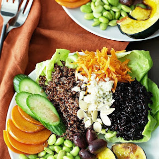 Black Rice and Red Quinoa Vegetable Bowls.