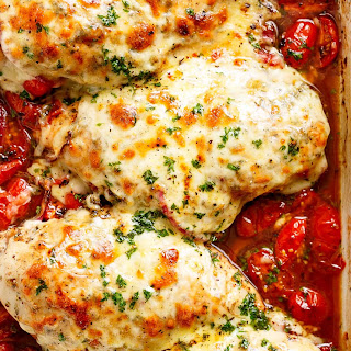 Easy Balsamic Baked Chicken Breast with Mozzarella Cheese Recipe