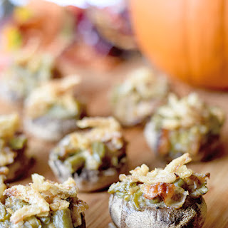 Green Bean Casserole Stuffed Mushrooms.