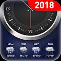Clock & weather forecast icon