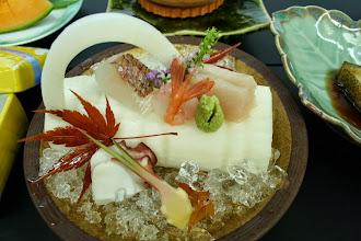 Photo: 割鮮:いかだ大根 鯛、はまち、たこ、甘えび