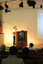 Photo: Grace Hsu, Co-President of BERC speaks!