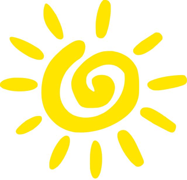 Sun, Yellow, Spiral, Summer,