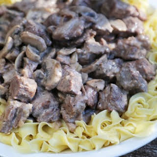 Crock Pot Steak Stroganoff.