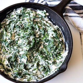 Easy Creamed Spinach.