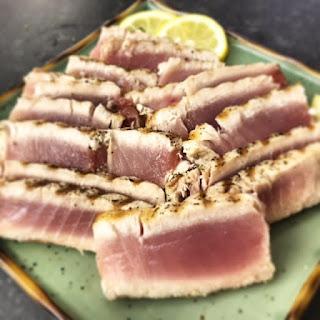 Simple Grilled Ahi Tuna Steaks.