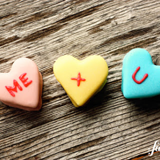 Homemade Marshmallow Conversation Hearts