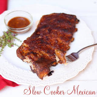 Slow Cooker Mexican Ribs.