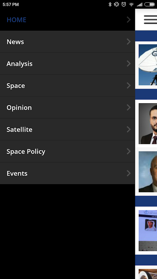 SpaceWatch Middle East- screenshot