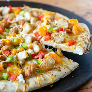 General Tso's Pizza with Apricots