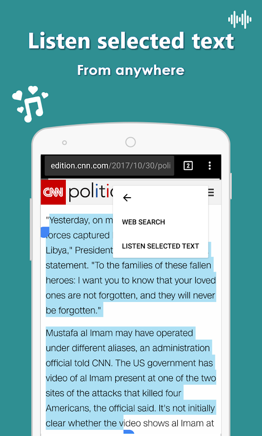 AudioBook - Listen any PDF, news, article or text- screenshot
