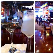 Photo: Wine and Pisco Sour at Portofino, Larcomar Center, Miraflores District, Lima, Peru.  June 2012.