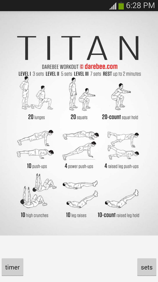 Pocket Workouts by DAREBEE- screenshot