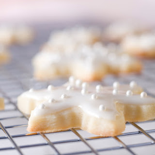 Lemon Zest Shortbread Cookies with Lemon Glaze