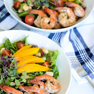 Mango Shrimp Salad with Champagne Vinaigrette
