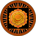 Second chakra meditation icon