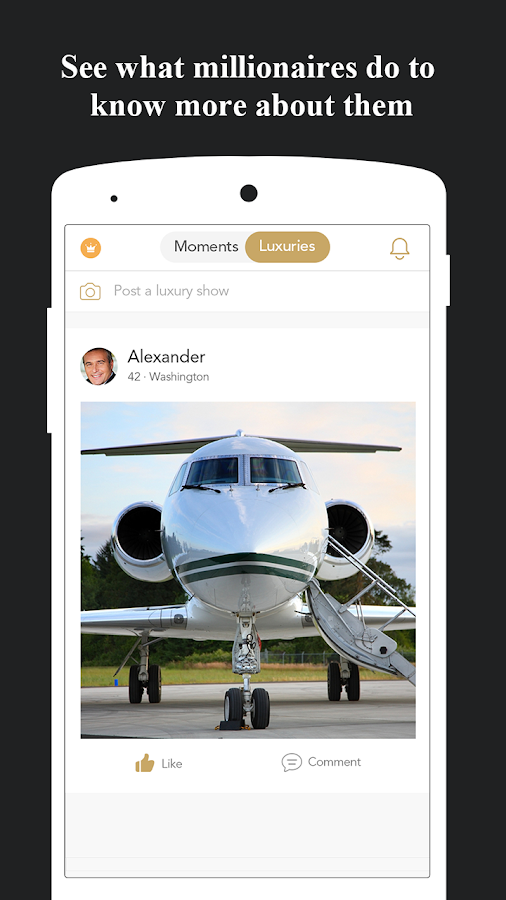 The Largest Millionaire League Singles Dating App- screenshot