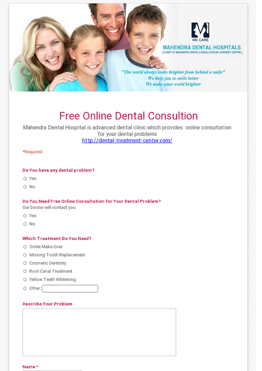 Free Online Dental Consultion