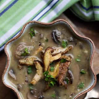 Creamy Coconut Mushroom & Quinoa Soup Recipe