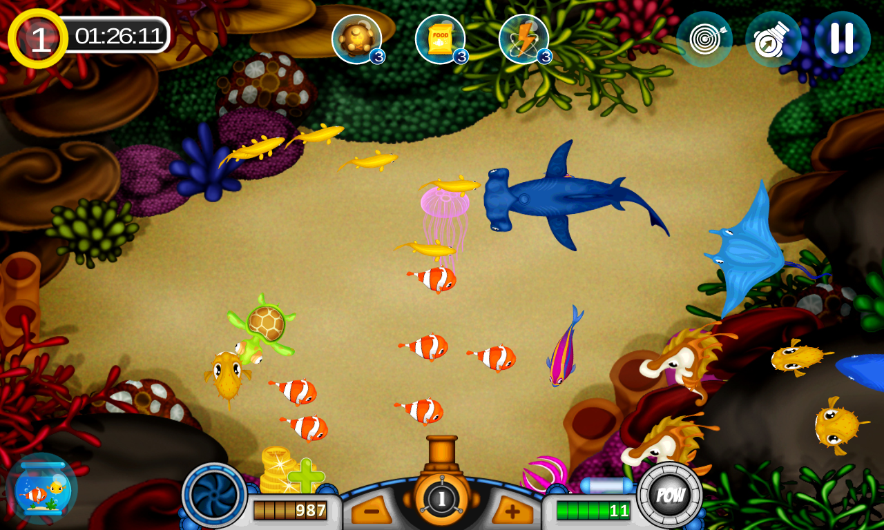 Fish shooter fish hunter android apps on google play for Arcade fish shooting games