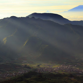 Morning At Sikunir by Arie Sudharisman II - Landscapes Mountains & Hills