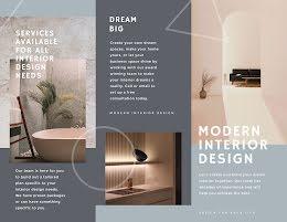 Modern Interior Design - Trifold Brochure item