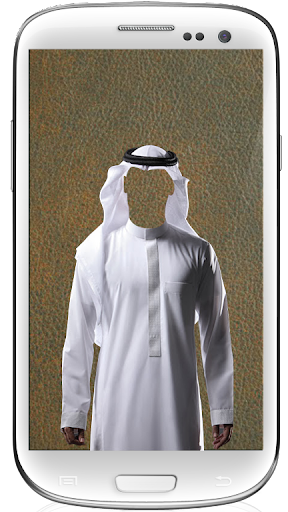 man in arab suit dress up