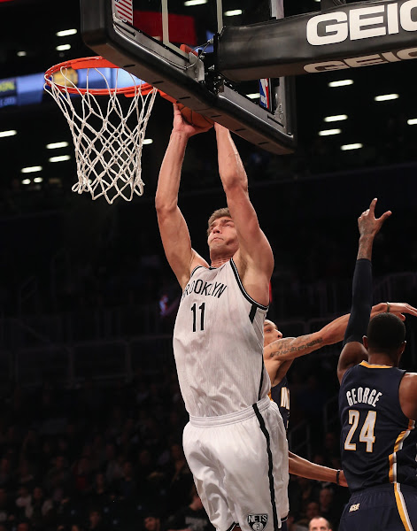 Photo: Brook Lopez #11 of the Brooklyn Nets scores two in the second quarter against the Indiana Pacers at the Barclays Center on January 13, 2013 in New York City.