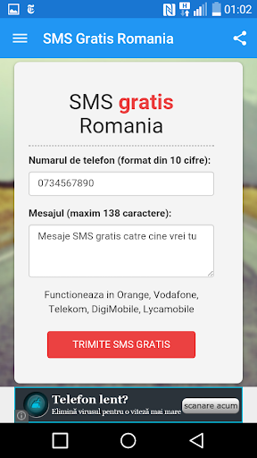 Romania Free Text Message
