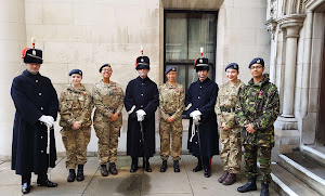 Cadets from 329 (Finsbury) Squadron ATC with the Light Cavalry HAC