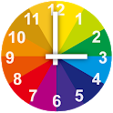 Rainbow Clock with Second icon