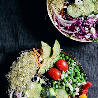 Everything Spring Green Salad with Basil Lemon Vinaigrette