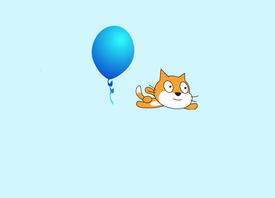 Choose the balloon for the Scratch tutorial