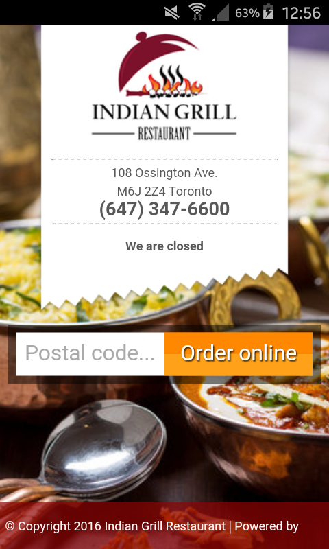 Indian Grill Restaurant- screenshot