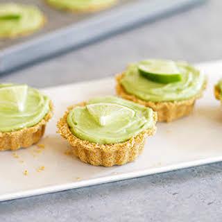 Avocado Key Lime Mini Tarts.