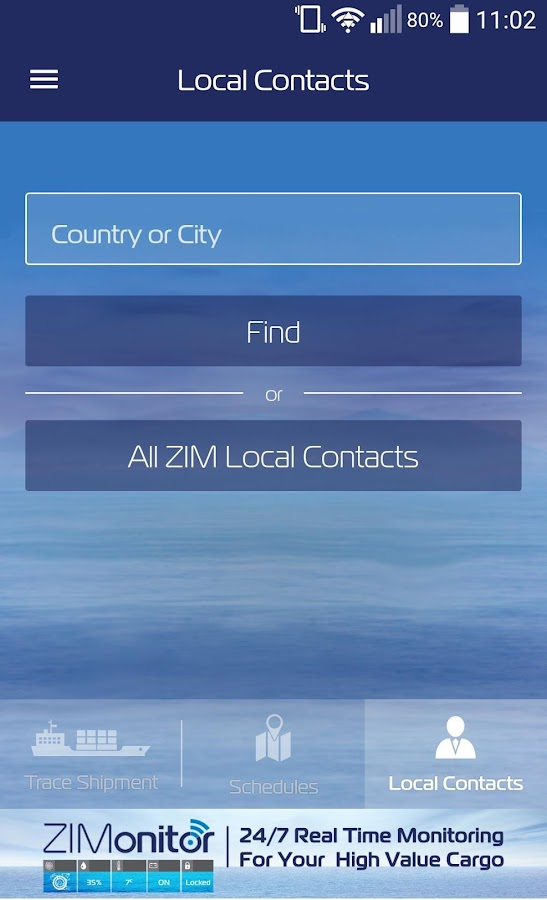 ZIM Shipping- screenshot