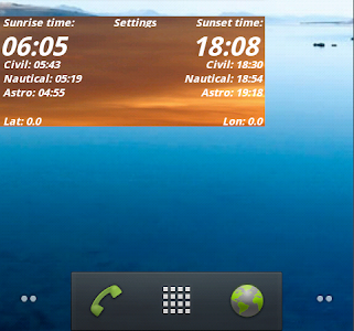 Sunrise widget screenshot 2