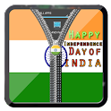 Indian Flag Zipper Lock icon