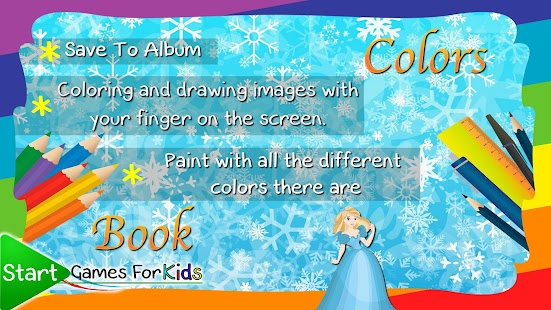 Coloring Frozen Ice World Book - náhled