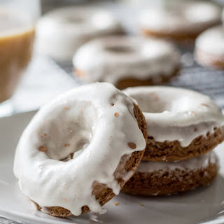 Glazed Gingerbread Donuts.