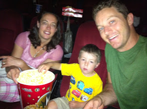 Photo: Cars 2 (Clark's first movie in the theater!)