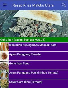 Resep Masakan Khas MalukuUtara - náhled