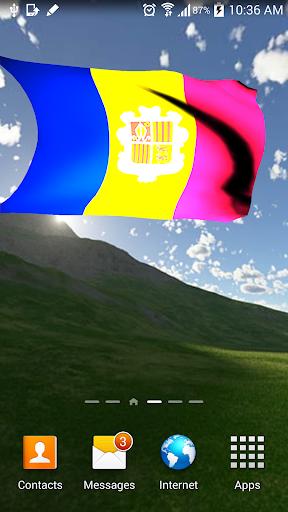 3D Andorra Flag Live Wallpaper