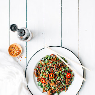 Thai Pork, Basil And Green Bean Stir Fry
