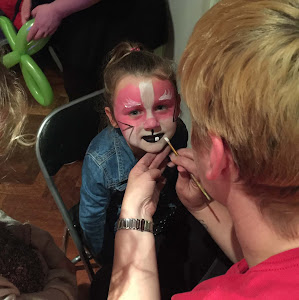 face painting by scotts magic  at children's birthday party
