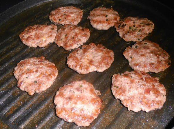 On a large heated griddle pan or skillet, fry sliders about 2-3 minutes on...